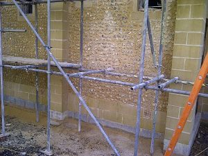 Finished wall with the Concrete Precast Flint Blocks