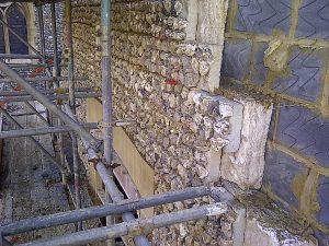 Installation of Concrete Precast Flint Block