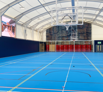 New Covered Sports Hall at Danes Hill School Complete